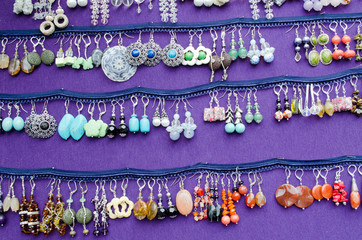 handmade decorative earring jewelry sell fair