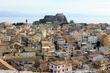 corfu town and castles