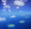 Aerial view of Maldives islands, Indian ocean