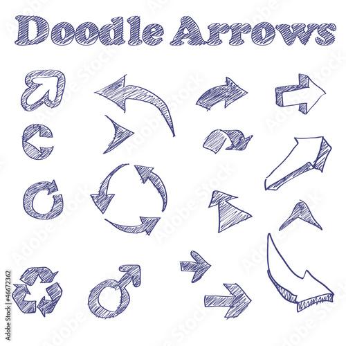 Vector doodle arrows