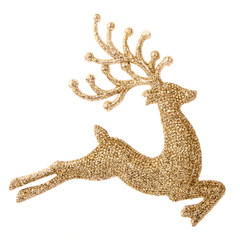 Flying gold reindeer