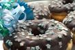 Partydoughnuts mit Sternchendekor