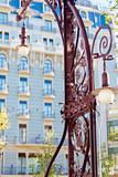 Famous Modernist Streetlamp in Barcelona, Catalonia poster