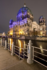 Berliner Dom at night, Berlin