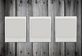 three empty  photos