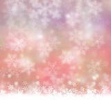 winter background with snow  red