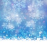 winter background with snow  blue