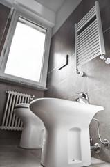 White toilette bottom view