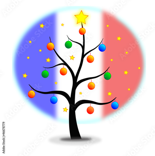 Christmas tree Flag France