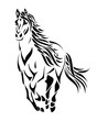 Tribal running horse