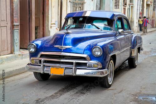 Keuken foto achterwand Cubaanse oldtimers Classic Oldsmobile in Havana.