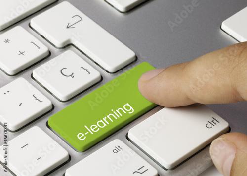 elearning keyboard. Finger
