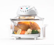 Electric convection oven with light