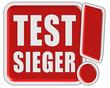 !-Schild rot quad TESTSIEGER