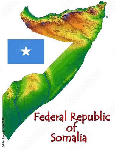 Somalia Africa national emblem map symbol motto