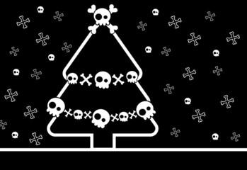 Christmas Skull Tree