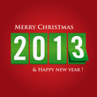 Merry Christmas and happy new year eve 2013 count