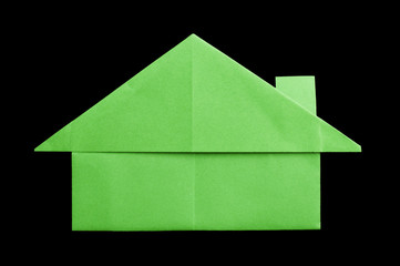 House paper made folded origami style