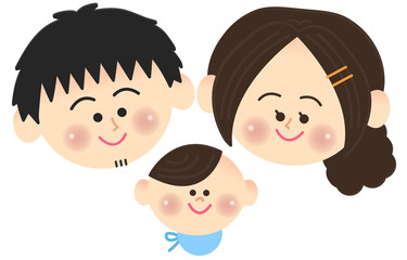 3人家族 顔