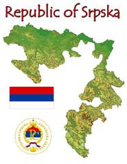Srpska Republic Europe national emblem map symbol motto