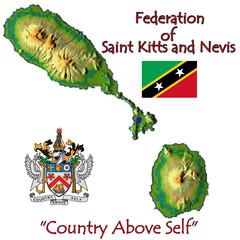 Saint Kitts Nevis Caribbean national emblem map symbol motto