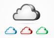 3d vector Cloud Computing symbol set