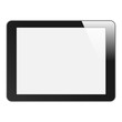 Realistic Tablet PC with blank screen. Isolated on white. Vector