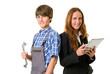 Zwei junge Auszubildende