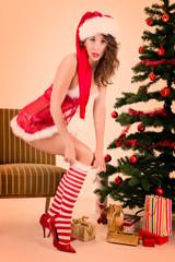 Pin Up Weihnachtsgirl