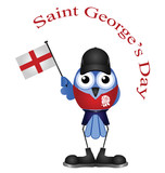 Comical Saint George Day bird