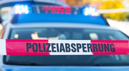 polizeiliche absperrung