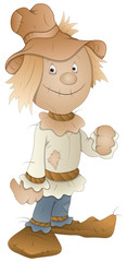 Cartoon Scarecrow - Vector Illustration