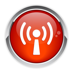 bouton internet wifi sign red