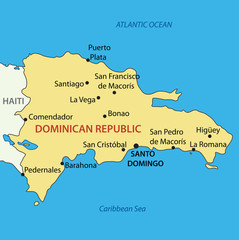 Dominican Republic - vector map