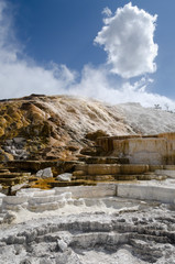 Mammoth Hot Springs a Yellowstone, Wyoming