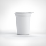 Big white food plastic container