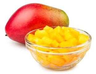 mango chunks bowl