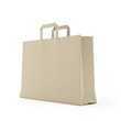 Big brown paper bag isolated on white