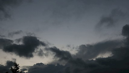 clouds. time lapse