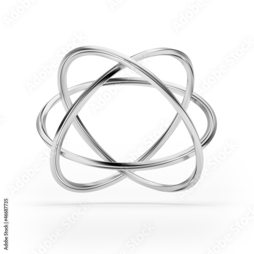 Orbital model of atom isolated