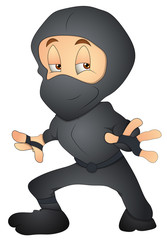 Japanese Ninja - Cartoon Character - Vector Illustration