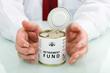Senior hand protecting retirement fund