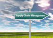 "Signpost ""Supply Chain Management"""