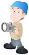 Photographer - Cartoon Character - Vector Illustration