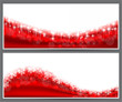 Christmas abstract banner backgrounds.