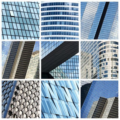 Modern buildings collage