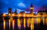 Westminster bridge by night - 46690706