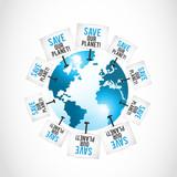 save our planet concept illustration