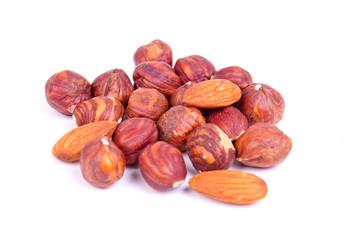 hazel-nuts and almond