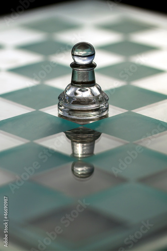 Pawn chess piece - business concept series: growth, promotion.